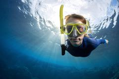 Freediver - stock photo