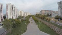 Aerial shots Ukraine Dnepropetrovsk DJI Phantom 2 h4-3d GoPro4 Stock Footage