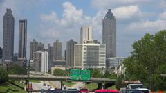 Traffic moving on highways and freeways around Atlanta, Georgia. Stock Footage