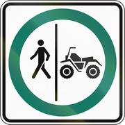 Stock Illustration of Pedestrian And ATV Lane in Canada