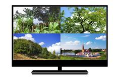 LCD TV Stock Illustration