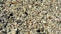Stones cover the large part of the ground - background Stock Footage