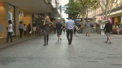 Time-lapse of Brisbane's Queen Street Mall - stock footage