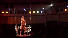 Stock Video Footage of Woman Juggling Balls In Circus