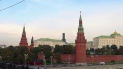 view of the Moscow Kremlin - stock footage