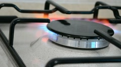 Gas stove close up Stock Footage