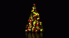 Colorful christmas tree lights out of focus loop 4k (4096x2304) Stock Footage