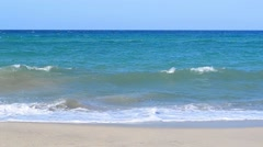 Waves in Platamona beach Stock Footage