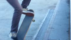 Rebel Skateboarder teenager on court  - stock footage