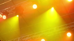 Light Equipment  On The Stage Stock Footage