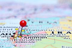 Amman pinned on a map of Asia - stock photo