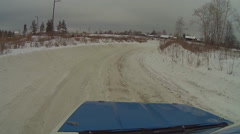 Winter car race out car 2 Stock Footage