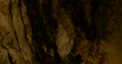 Camera tilt in a limestone cave Stock Footage