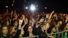 Stock Video Footage of People In Heavy Metal Music Festival