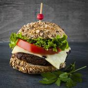 Stock Photo of Gourmet hamburger