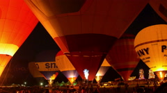 Bristol, August 2015. The night glow at the Bristol Baloon Fiesta - stock footage