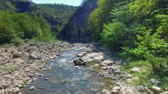 Mountain river in Georgia Stock Footage