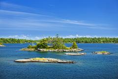 Islands in Georgian Bay - stock photo