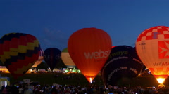Balloon Fiesta 2015: Night show - stock footage