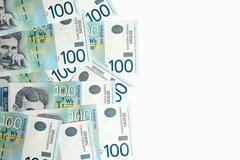 banknotes on white background - stock photo