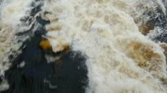 very rapid stream of water escaping from the dam - stock footage
