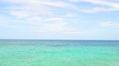Turquoise sea on a clear day Stock Footage