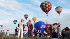 Bristol 2015 Balloon Fiesta - stock footage