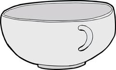 Isolated Empty Teacup - stock illustration
