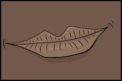 Stock Illustration of Single Smiling Lips