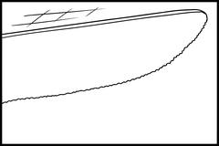 Tip of Knife Outline Stock Illustration