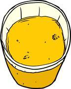 Stock Illustration of Full Cup of Orange Juice