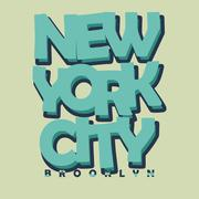 New York City Typography T-shirt Printing Design - vector Stock Illustration
