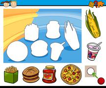 Cartoon educational preschool task Stock Illustration