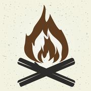bonfire flame - stock illustration