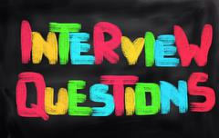 Interview Questions Concept - stock illustration