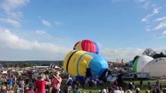 Timelapse of Bristol 2015 Balloon Fiesta Stock Footage