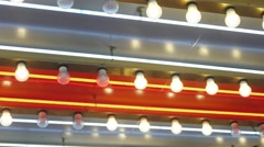 Flashing Ceiling Lights Stock Footage