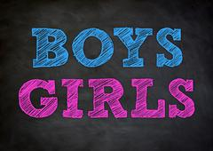 Boys and Girls Stock Illustration