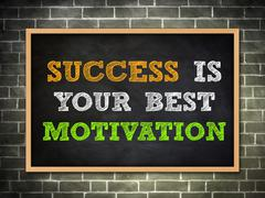 success is your best motivation - stock illustration