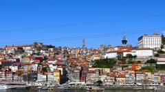 Porto Portugal cityscape Stock Footage