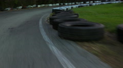 Stock Video Footage of 4K: Go Kart Driver View While Speeding Around Track
