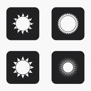 Vector modern sun icons set Stock Illustration