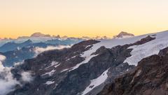 Alpine sunset. Stock Photos