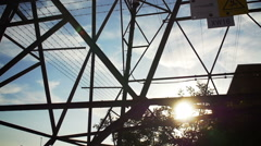 Electrical pylon Stock Footage