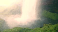 Epic natural waterfalls, slider movement Stock Footage