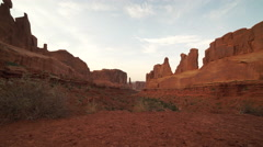 Stock Video Footage of Dolly Shot of Woman in Arches National Park