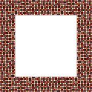 Big mosaic frame in elegant decent colors - stock illustration