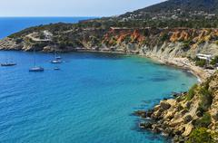Cala de Hort cove in Ibiza Island, Spain - stock photo