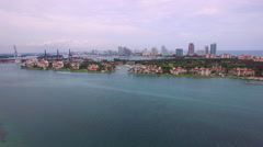 The Luxurious Fisher Island Stock Footage
