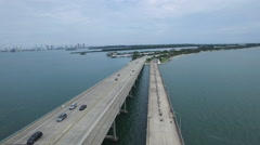 Rickenbacker Causeway Key Biscayne Stock Footage